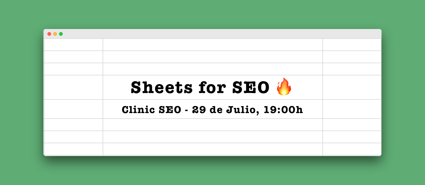 SEO, SHEETS & APPS SCRIPT